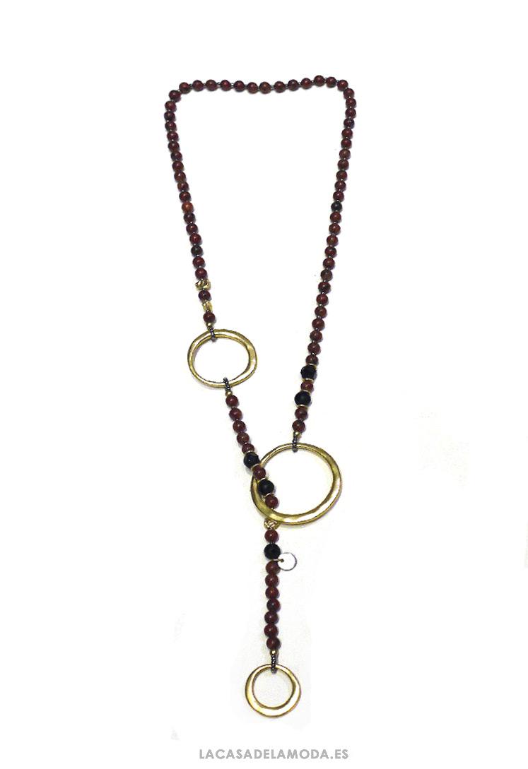 f12aaefb0115 Collar original marrón y dorado