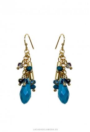 Pendientes azul turquesa