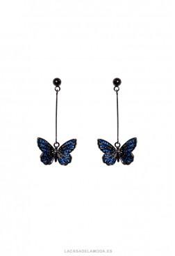 Pendientes cortos fiesta y mariposas