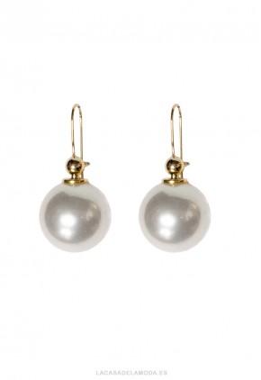Pendientes perla grande