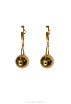 Pendientes perlas doradas