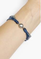 Pulsera de hilo encerado con azules