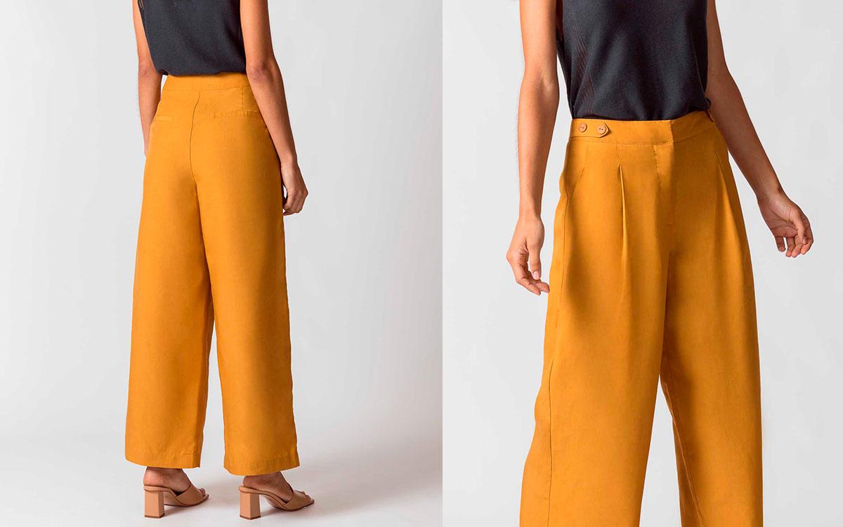 Pantalones Pinzas Tiro Alto