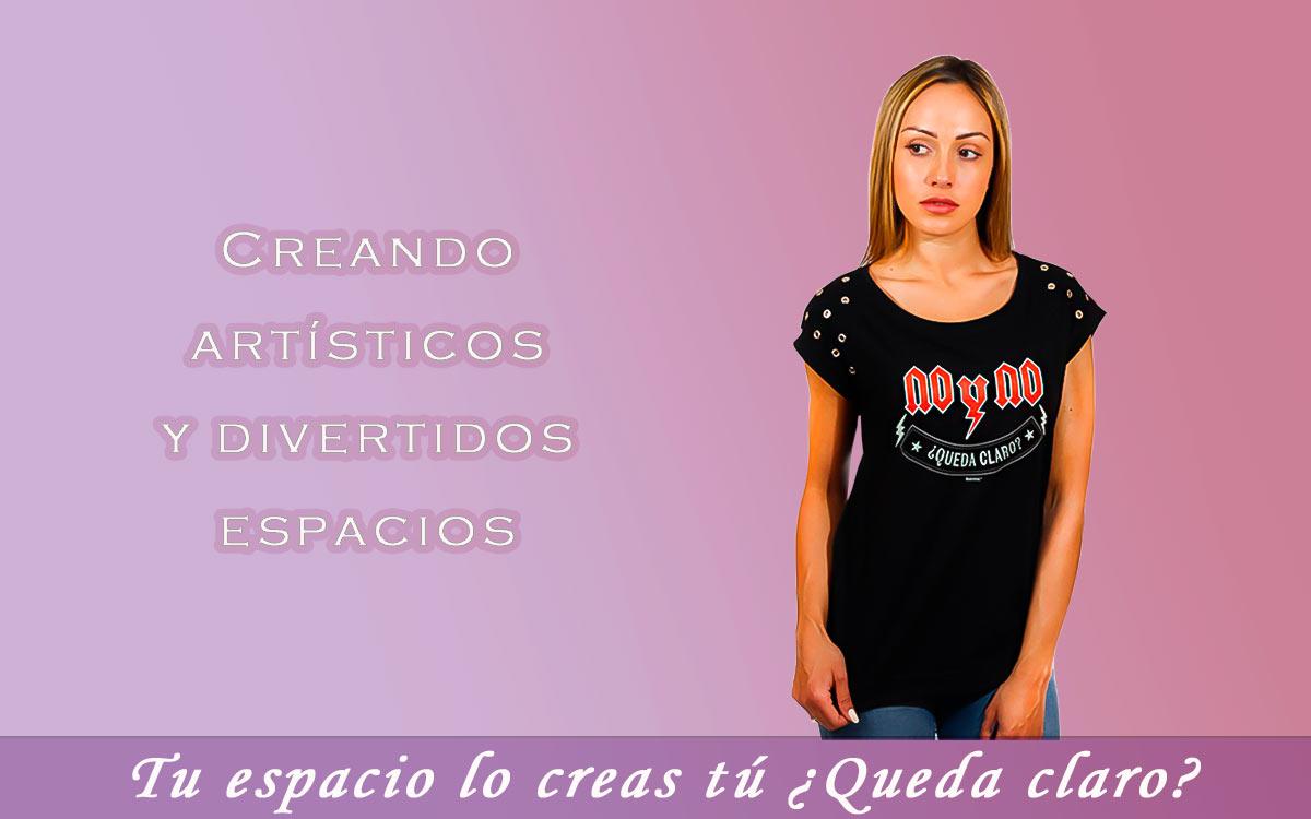 Camisetas con mensaje para mujer con arte