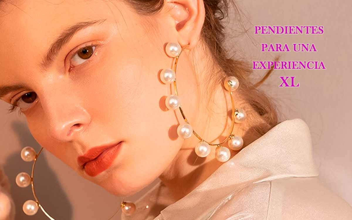 Pendientes con perlas y experiencias XL