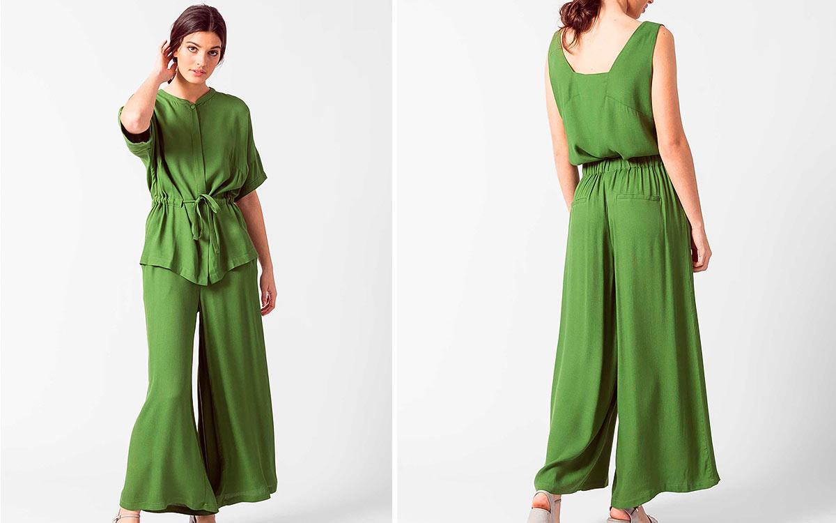 Pantalones Con Goma En La Cintura Para Mujer