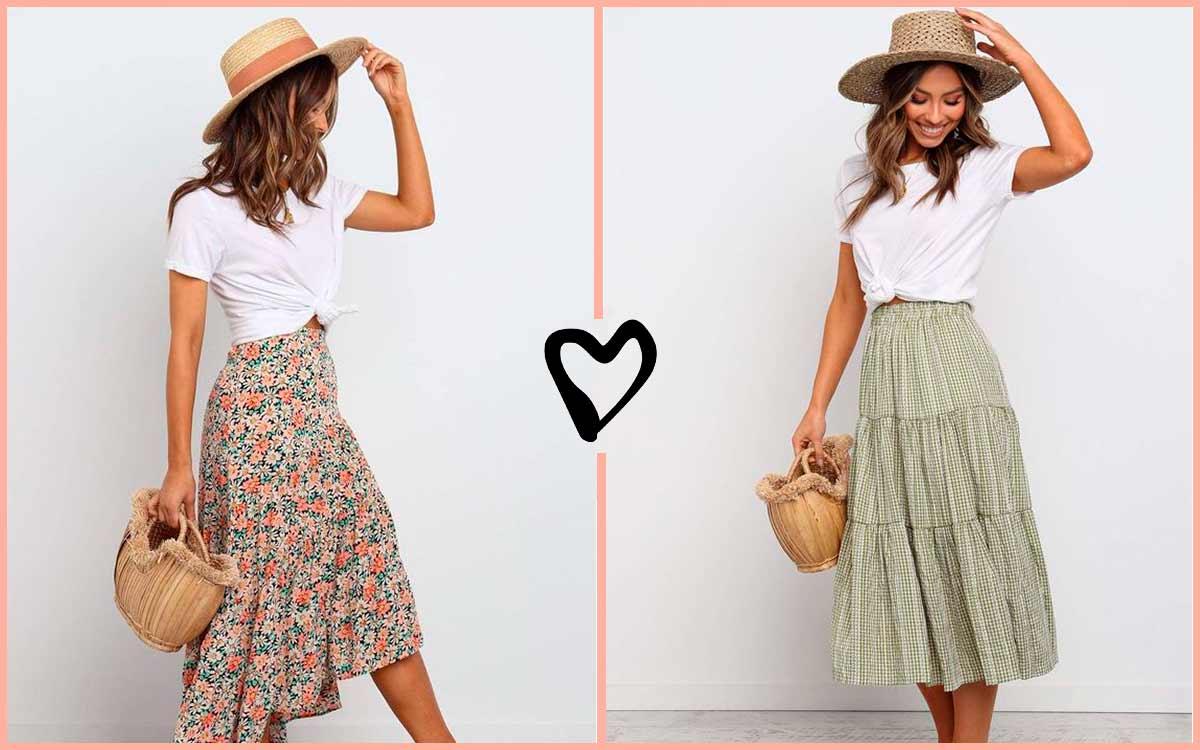 Faldas Casuales De Moda