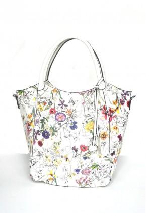 Bolso shopping estampado flores silvestres