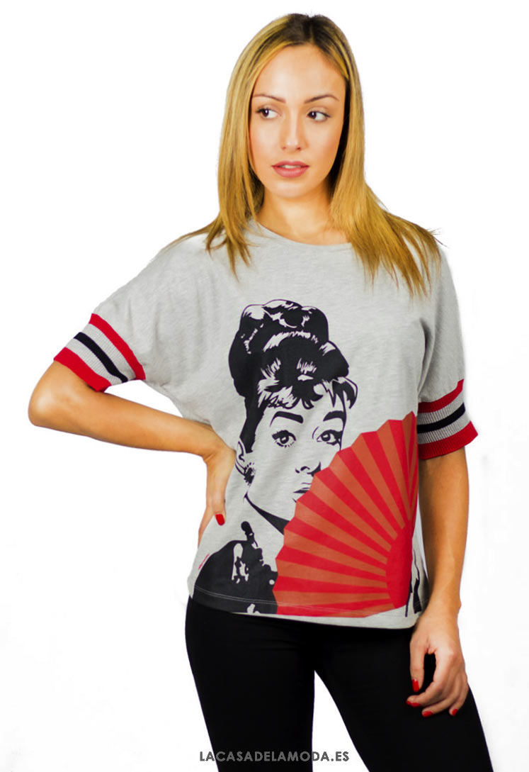 fa9032fed Camiseta Audrey Camiseta Hepburn Audrey Mujer qwP80x