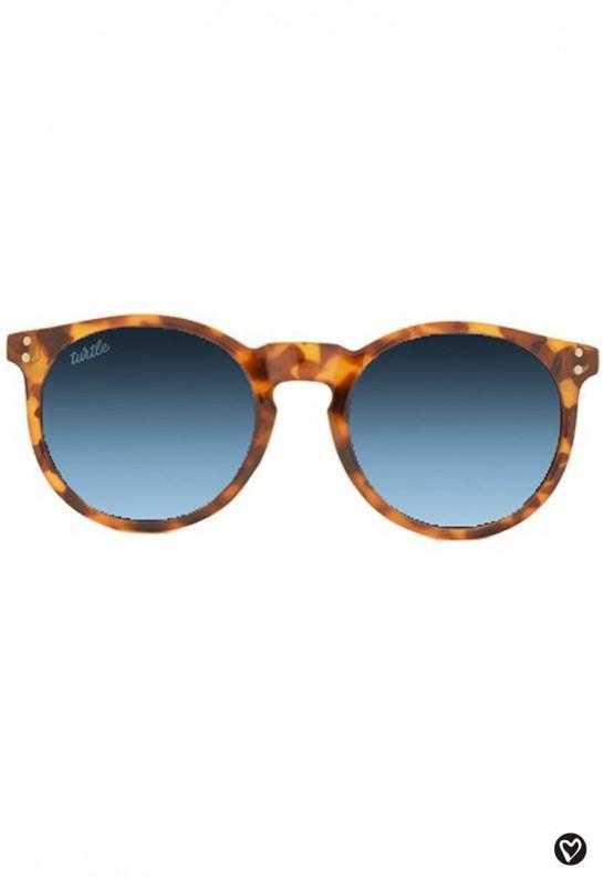 Gafas de sol redondas de cristal azul