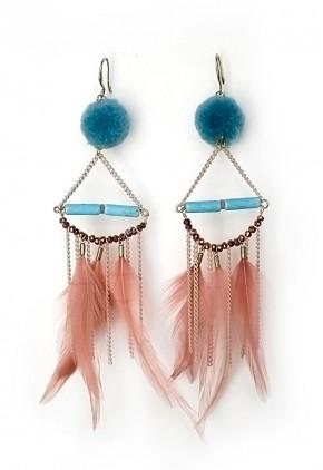 Largos de plumas de trantrend  y pompones azules