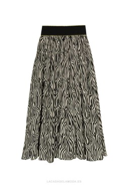 Falda animal print cebra