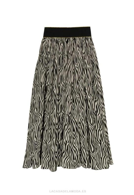Falda animal print cebra