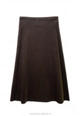 Falda de pana marrón con botones
