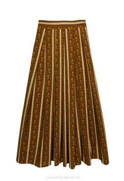 Falda de tablas midi