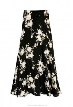 Falda estampada blanco y negro