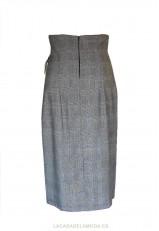 Falda midi de tubo y cuadros de tendencia y elegante