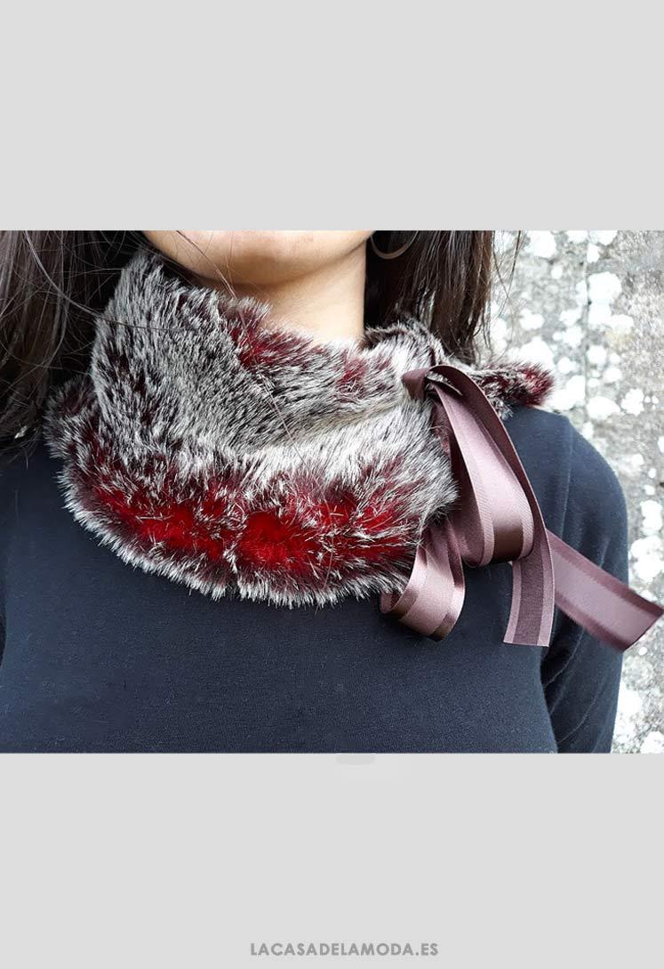 Cuello De Pelo Sintético Gris Para Abrigo