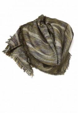 Bufanda lana colores y flecos