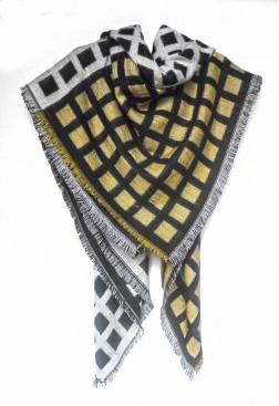 Bufanda manta cuadrada tipo pañuelo de lana