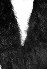 Cuello pelo sintético negro online