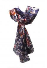 Pañuelo cuello de colores de seda y grande