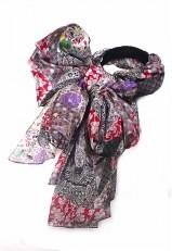 Pañuelo efecto patchwork de seda colección 2018