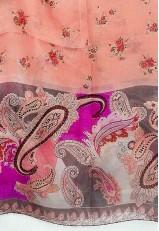 Pañuelo estampado cachemir de seda