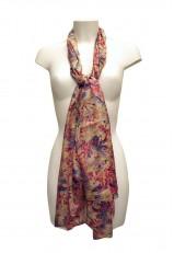 Pañuelo violeta lila fucsia y rosa femenino para el cuello