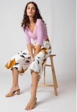 Falda pantalón estampada