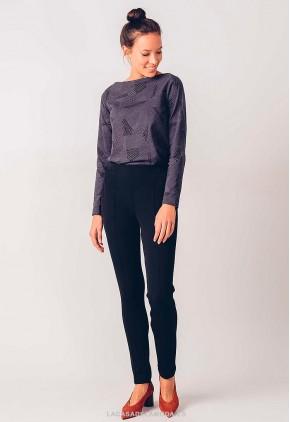 Leggings de vestir negro con fibras ecológicas