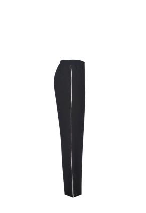 Pantalón ancho largo de vestir negro con bolsillos