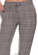 Pantalón cuadros de vestir pitillo