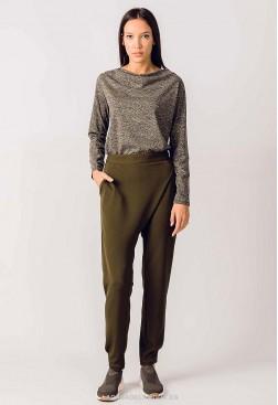 Pantalón verde oscuro fibras ecológicas