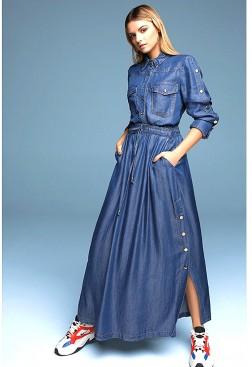 Conjunto falda y blusa vaquera azul