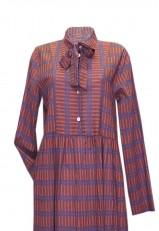 Vestido algodón largo juvenil casual con lazo