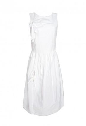 Vestido blanco largo elegante para la noche o la oficina