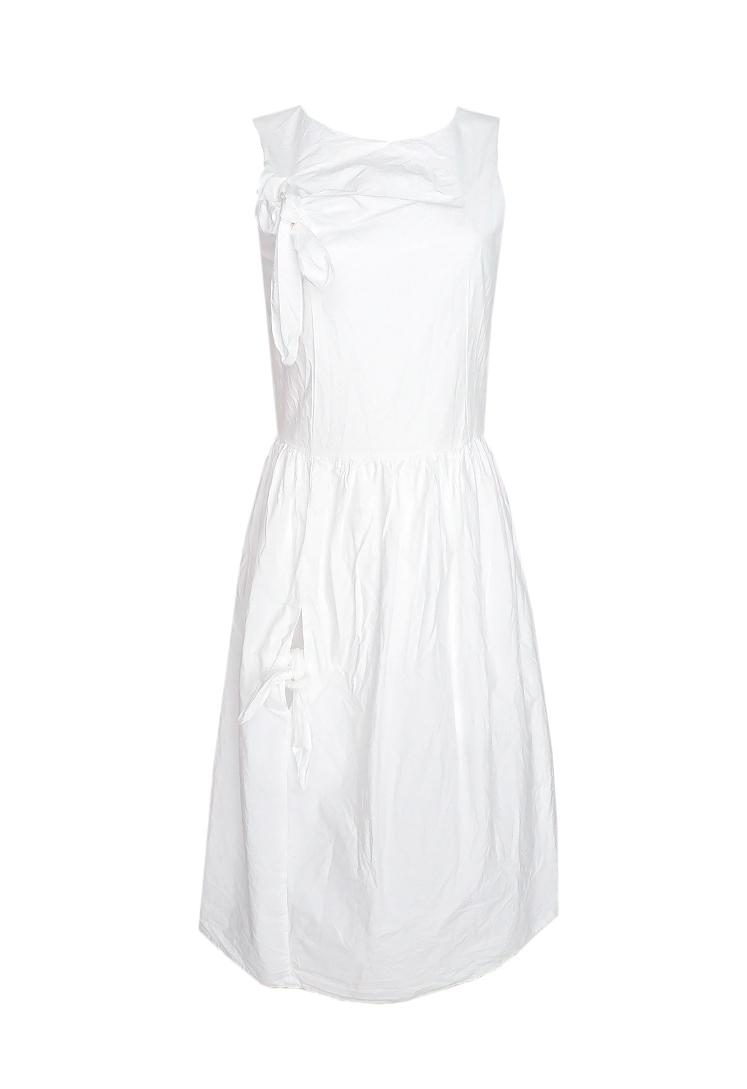 7d3b065886 Vestido blanco largo elegante para la noche o la oficina ...