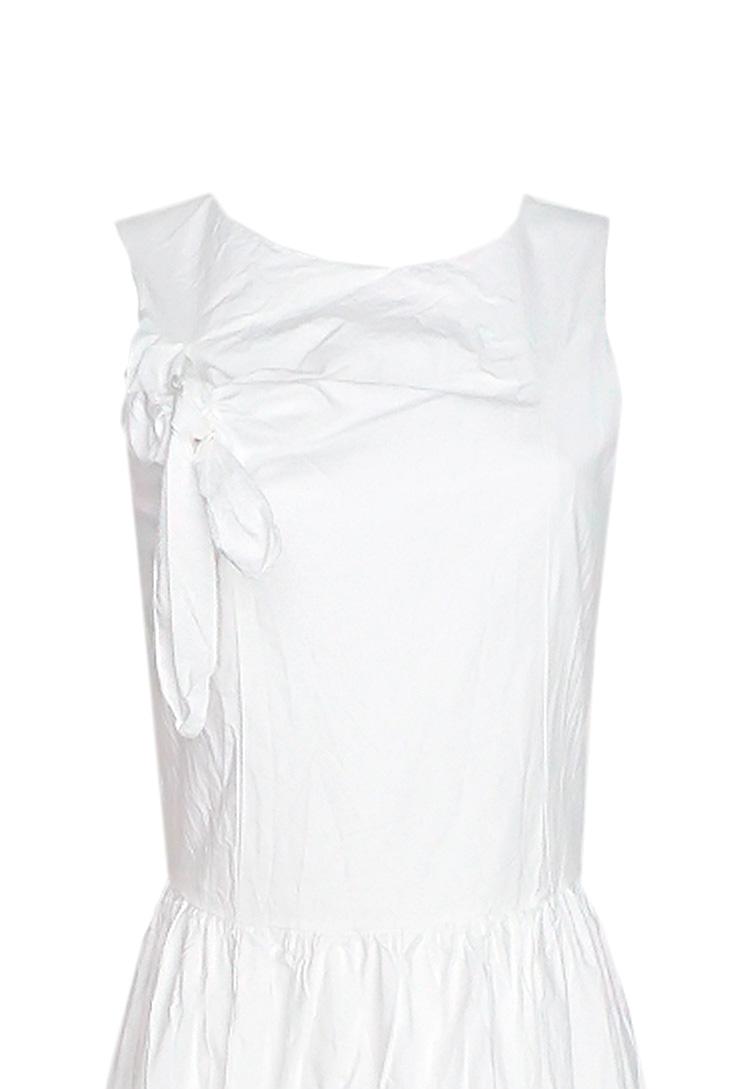 e6436745f1 ... Vestido blanco largo elegante para la noche o la oficina