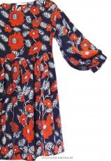 Vestido corto estampado floral mujer