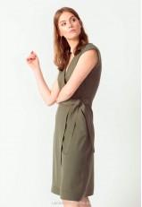 Vestido cruzado verde
