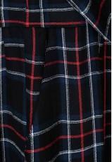 Vestido cuadros grandes tartán con bolsillos
