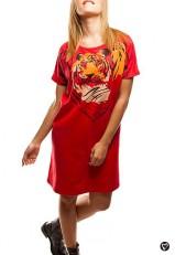 Vestido de algodón rojo suelto juvenil online