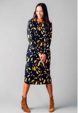 Vestido estampado midi con fibras recicladas