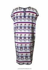 Vestido estampado original de seda