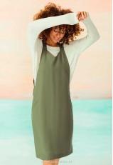 Vestido estilo pichi verde mujer