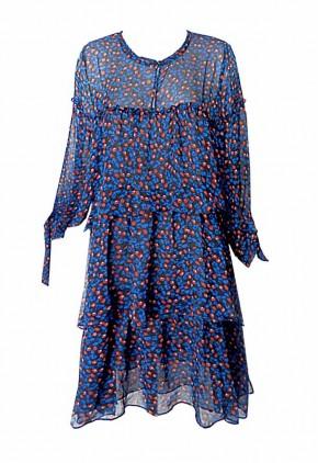 Vestido holgado manga larga francesa