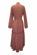 Vestido largo casual estampado desigual