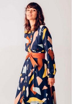 Vestido largo casual tejido ecológico