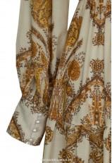 Vestido largo estampado cachemir